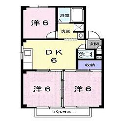 広島県福山市春日町5の賃貸アパートの間取り
