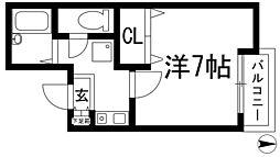 ギャレカワニシ[4階]の間取り