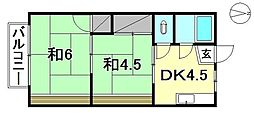 第30杉フラット[203 号室号室]の間取り