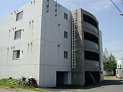 北海道札幌市清田区真栄二条2丁目の賃貸マンションの外観