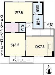 シャーメゾン・秀H棟[2階]の間取り