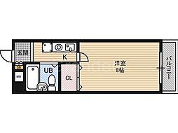 ベンベヌート大西[4階]の間取り