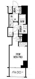 東京都新宿区市谷薬王寺町の賃貸マンションの間取り