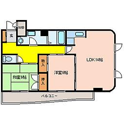 パルフェメゾンOgawa[105号室]の間取り