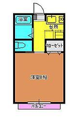 サンガーデン吉田B[101号室]の間取り