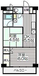 秀和川口青木町レジデンス[611号室]の間取り