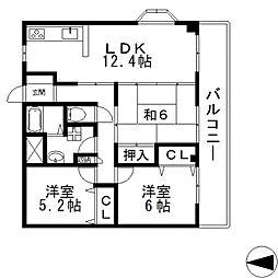 アムール新池島[401号室号室]の間取り