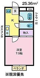 リバーハイツタワラ[2階]の間取り