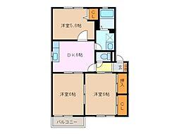 パル B棟[1階]の間取り