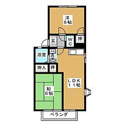 アーバン元郷A棟[2階]の間取り