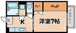 広島県広島市安芸区上瀬野町の賃貸アパートの間取り