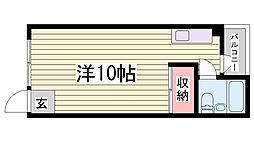 パンダ神戸[4階]の間取り
