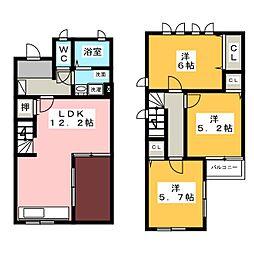 [テラスハウス] 愛知県日進市東山6丁目 の賃貸【/】の間取り