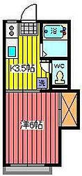 埼玉県さいたま市浦和区仲町4丁目の賃貸アパートの間取り