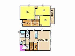 [テラスハウス] 兵庫県姫路市城北本町 の賃貸【/】の間取り