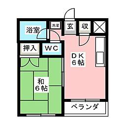 コーポ志波[2階]の間取り