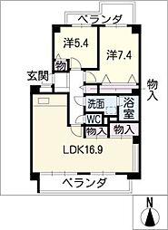 パーク・ノヴァ藤ケ丘南[1階]の間取り
