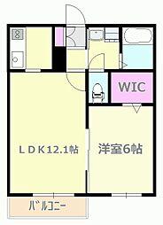 東京都日野市南平7丁目の賃貸マンションの間取り
