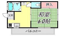 コーポ・シラミネ[2階]の間取り