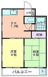 NTハイツ萩山[301号室]の間取り