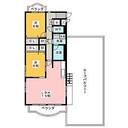 ライオンズマンション本山[3階]の間取り