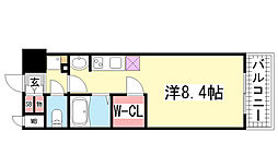 アスヴェル神戸元町海岸通[703号室]の間取り