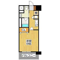 レジディア洛北[2階]の間取り