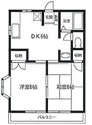 宮崎台ラ・フルール[1階]の間取り
