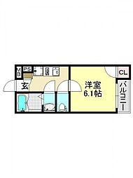 モダンアパートメント平野本町[3O1号室号室]の間取り