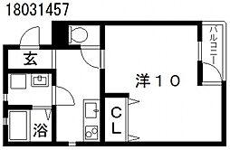 クローバーハイツ鷹合[1階]の間取り