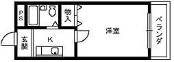ロイヤル和泉 1[3階]の間取り
