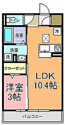 仮)D−room中成沢町[103号室]の間取り
