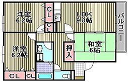 セジュール白水I[1階]の間取り