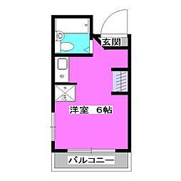 パステル鷹の台[3階]の間取り