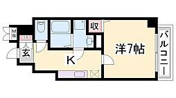 エトワール衣掛[4階]の間取り