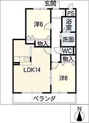 メゾン花水木[3階]の間取り