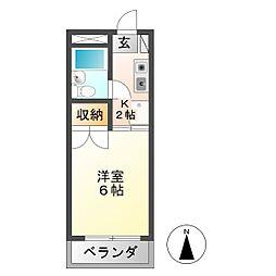 安田学研会館 北棟[1階]の間取り