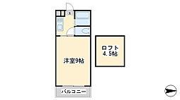 No.12 ラフェスタ篠崎[1階]の間取り