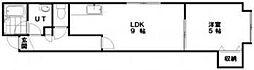 フロルドゥコルザII 2階1LDKの間取り