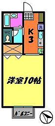 リヴェール検見川[206号室]の間取り