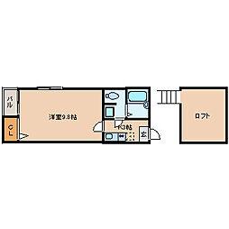 ピュア吉塚拾壱番館[1階]の間取り