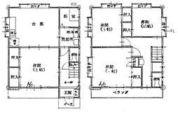 [一戸建] 神奈川県大和市南林間7丁目 の賃貸【神奈川県 / 大和市】の間取り