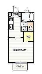 リフレスK3B棟[2階]の間取り