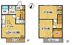 [タウンハウス] 神奈川県大和市上草柳5丁目 の賃貸【/】の間取り