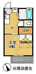 神奈川県大和市中央林間西2丁目の賃貸アパートの間取り