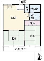 ニコニコハイツ[2階]の間取り