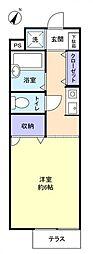 フロンティアIII D棟[1階]の間取り
