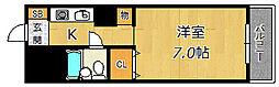リバーサイド西淀川[2階]の間取り