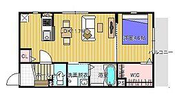 フィアスコート白鷺[102号室号室]の間取り