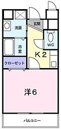 ウナ・カーサ[201号室]の間取り